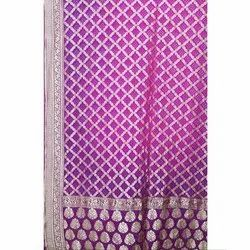 Weadding Wear Wedding Wear Bandhani Silk Saree, 5.5 m (separate blouse piece), Packaging Type: Packet and Box