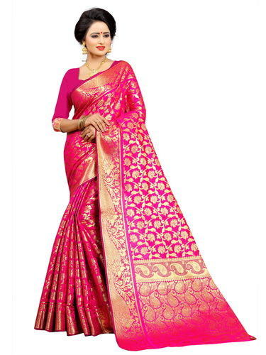 9061e3754ae84 South Indian Kanchipuram Silk Saree For Wedding Wear
