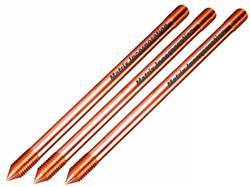 Solid Copper Earth Rod - Externally Threaded