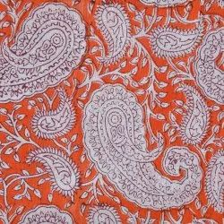 Paisley Hand Block Print Cotton Fabric