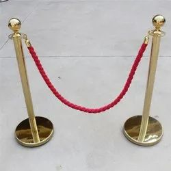 Line Manager Gold Post with Red Twisted Rope