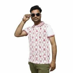 Cotton Printed Designer Men's T-Shirt