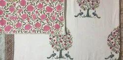 Hand Block Printed Cotton Reversible Dohar