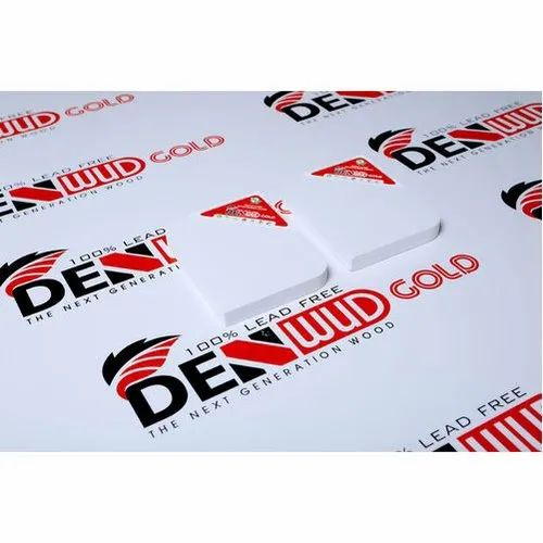 White Denwud Gold PVC Board, Size: 8 X 4 Feet, Thickness: 5 To 18 Mm