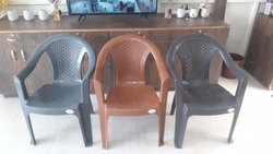 Grey Plastic Chair, Size: Standard