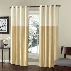 52 x 60 inch Silk Weave Ivory Blackout Curtain