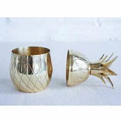 Brass Pineapple Container , Metal Pineapple Jar