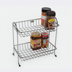 Stainless Steel Double Rack, Height : 10 inch