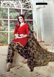 Printed Salwar Suit Cotton Patiyala
