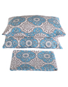 Cotton Hand Block Printed Handmade Decorative Bed Sheet with 2 Pillow Cover