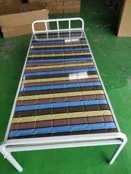 Steel Multicolor Folding Cot, Size: Length 1900 X Width 800