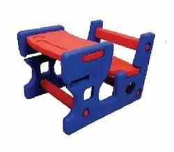 Playpro L70xB50xH47cm Playschool Plastic Bench
