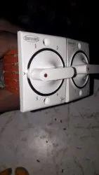 White Socket 5 Step Fan Regulator, Number Of Modules: 2 Module, 240v Ac