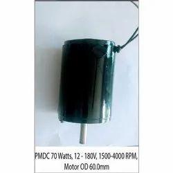 Praj Electricals 70 W 70W OD 60mm PMDC Motor, Voltage: 12-180 V