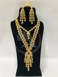 Gold Plated Arabic Long  Jewelry Set
