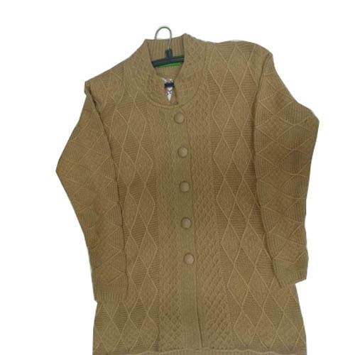 121a97b895f9 Brown Ladies Winter Cardigan Sweater