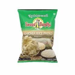 Green Chilli Khichia Rice Papad