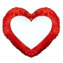 Pillow Fur Heart Red