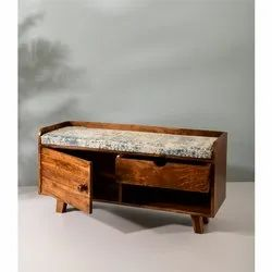 Handcrafted Entryway Storage Bench
