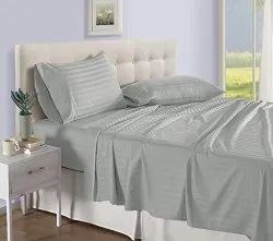 Amigos Plain Cotton Satin Double Bed Sheets