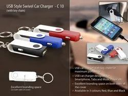 USB Styler Swivel Car Charger