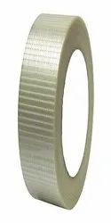 STICK TAPES Single Side White Cross Filament Tape, Coverage: Packaging, Packaging Size: Roll