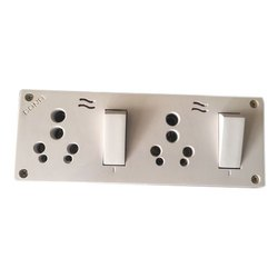 Cona Plastic Electric Double Combined Switch Board, 2, IP66