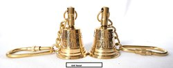 Gold Brass Set of Two 1st Class Captain Bell Keychain, Size: 2 Inch , For Nautical Decor And Gifting Set