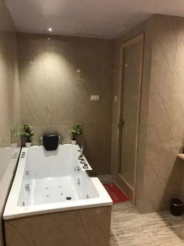 Matt Bathroom Tiles Panels, Thickness: 10-15 mm