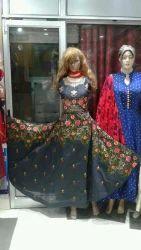 Round Neck Casual Wear Ladies Printed Dress