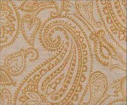 52X84 Inch Gold Linen Paisley Blackout Curtain