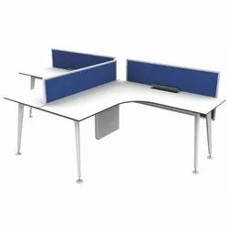 Fonzel BP L Shape Single Sided Two Cluster Workstation