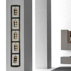 Grey rectangle Metal Bell Panel, For Decoration