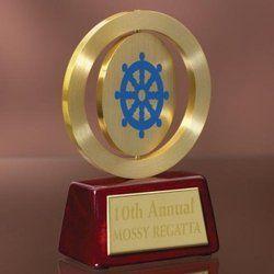 Designer Round Metal Trophy