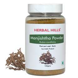 Ayurvedic Manjishtha Powder- Rubia Cordifolia - 100 gms Powder Healthy Blood Purification