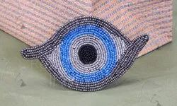 Eye Shape Beaded Patches