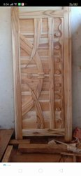 Teak Wood Brown Wooden Door, For Home