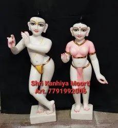 White Marble Iskon Radha Krishna