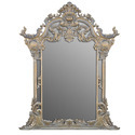 Antique Glass Mirror Frame