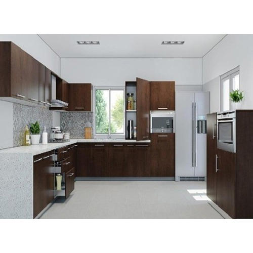 Pvc Modular Kitchen Manufacturer From: L Shape PVC Modular Kitchen, Rs 50000 /unit, Siddhi