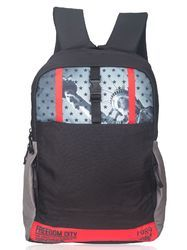 Black Red Liberty Laptop Backpack Bag