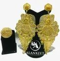 Gold Plated Designer Long Earring