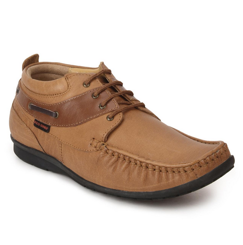 Red Chief Tan Derby Formal Shoes For