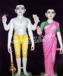 Iskcon Lord Vishnu & Laxmi Statue