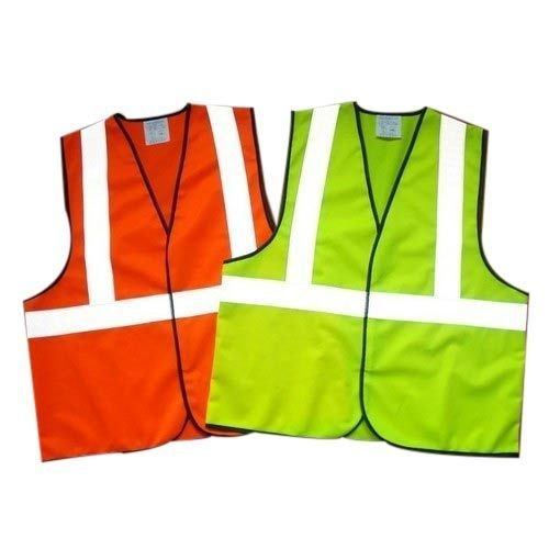 Polyester Without Sleeves 2 inch Reflective Jacket 135GSM with Logo
