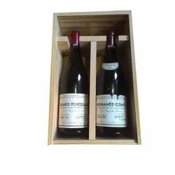 Wooden Two Wine Bottle Box