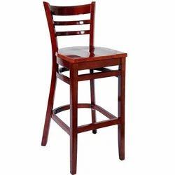 Elegant Wooden Bar Chair