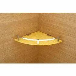 Triangular Acrylic  Corner Shelf