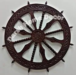 Antique Wooden Wall Decor Wheel