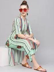 Multi Color Printed Rayon Kurtis